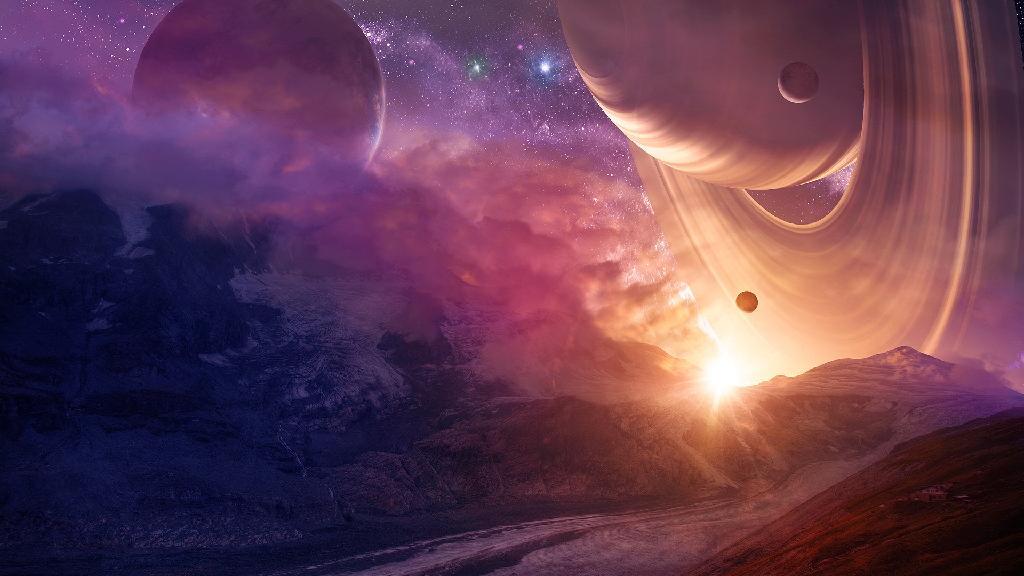 天文社手绘彩铅海报